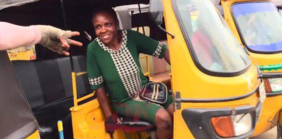 See Photo of Woman Who Drives A 'Keke' In Lagos After Graduating With A Second Class Upper
