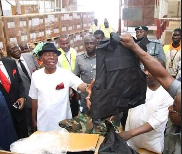 Senate Committee inspects prohibited security gadgets allegedly imported by Kogi Governor