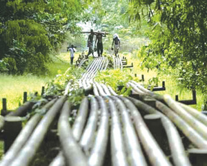 Pipeline Vandalism: residents panic over oil spill in Isheri-Ikotun road